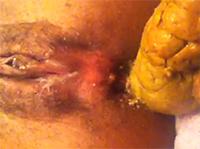 Fette Scheisse frisch aus dem Arsch