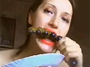 Kacke vom Dildo fressen