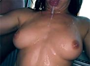 Spaß mit der Sperma Schlampe