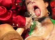 Schleim Dusche und Lesben pissen