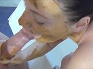 Schmieriger Schiss in die Badewanne