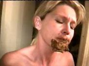 Mutter Scheisse ins Gesicht geschmiert